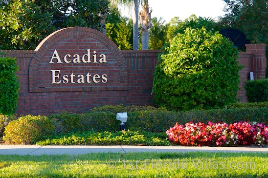 Vacation homes for rent in acadia estates for Acadia home builders