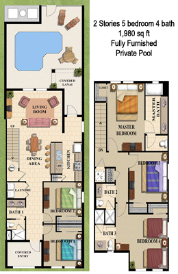Florida Vacation Home Floor Map